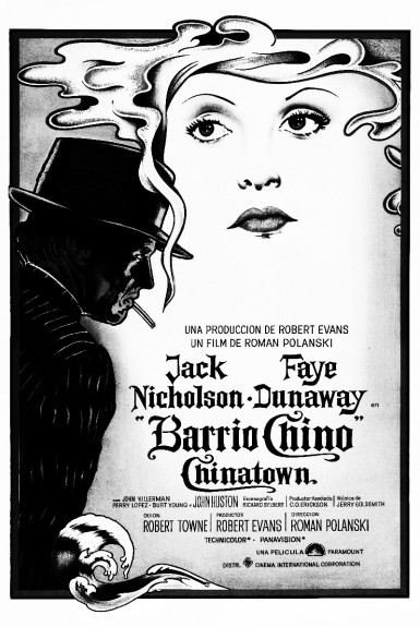 Chinatown-1974-Roman Polanski-Jack Nicholson-Faye Dunaway-neo noir-Barrio Chino film poster-Afterhour Sleaze and Dignity