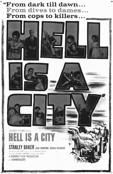 Hell Is A City-1960-Stanley Baker-British noir-Afterhours Sleaze and Dignity-poster