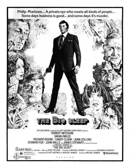The Big Sleep-1978-Robert Mitchum-press book image