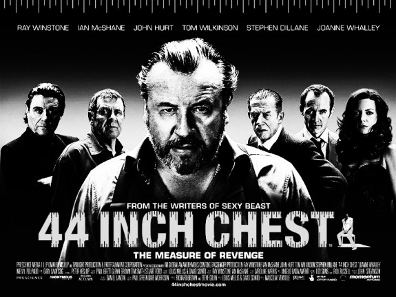 44 Inch Chest film poster-Ray Winstone-Ian McShane-John Hurt-Tom Wilkinson-Stephen Dillane-Joanne Whalley