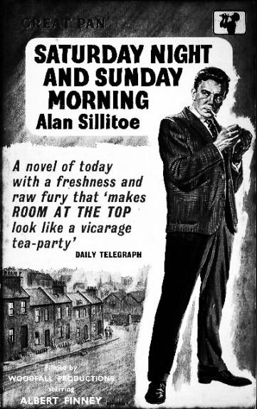 Saturday Night and Sunday Morning film tie-in book cover-Albert Finney-Alan Sillitoe