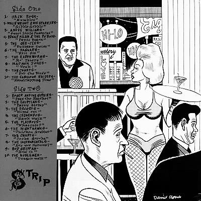 Las Vegas Grind-Volume Four-Dan Clowes-back cover-Afterhours Sleaze and Dignity