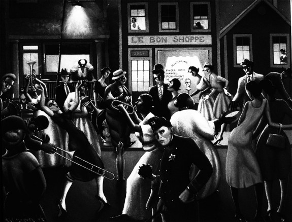 Archibald Motley Jr-Harlem Renaissance-Devil In A Blue Dress-1995 film-Oswald Mosley-Afterhours Sleaze and Dignity-night scene