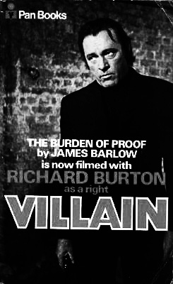 Villain-1971-Richard Burton-James Barlow novel book paperback-Afterhours Sleaze and Dignity