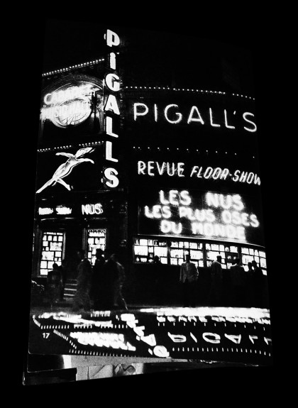 Daniel Frasnay-Jan Brusse-Nights In Paris-1958-showgirls-Les Girls-Lido-nightlife-burlesque-neon-Pigalls-Pigalle-Afterhours Sleaze and Dignity